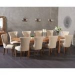 Verona 180cm Solid Oak Extending Dining Table with Camille Fabric Chairs