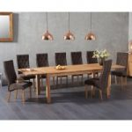 Verona 180cm Solid Oak Extending Dining Table with Juliette Fabric Chairs