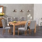 Verona 180cm Solid Oak Dining Table with Claudia Fabric Chairs