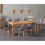 Verona 180cm Solid Oak Dining Table with Duke Fabric Chairs