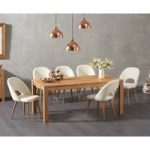 Verona 180cm Solid Oak Dining Table with Halifax Faux Leather Chairs