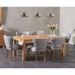 Verona 180cm Extending Solid Oak Dining Table and Isobel Fabric Chairs