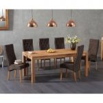Verona 150cm Solid Oak Dining Table with Juliette Fabric Chairs