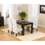 Verona 120cm Dark Solid Oak Dining Table with Dakota Chairs