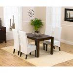 Verona 120cm Dark Solid Oak Dining Table with Dakota Chairs