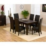 Verona 150cm Dark Solid Oak Dining Table with Dakota Chairs