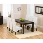 Verona 180cm Dark Solid Oak Dining Table with Dakota Chairs