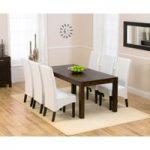Verona 180cm Dark Solid Oak Dining Table with Dakota Chairs