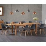 Verona 150cm Solid Oak Extending Dining Table with Duke Faux Leather Chairs