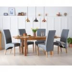 Verona 150cm Solid Oak Extending Dining Table with Cannes Chairs