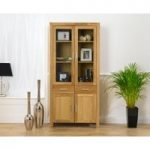 Verona Oak Display Cabinet
