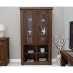 Mira Walnut Glass Display Cabinet
