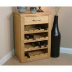 Rhone Solid Oak Wine Rack Lamp Table