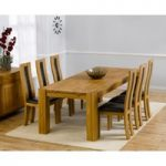 Madrid 200cm Solid Oak Extending Dining Table with Toronto Chairs