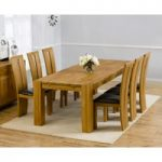 Madrid 200cm Solid Oak Extending Dining Table with Montreal Chairs