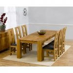 Madrid 200cm Solid Oak Dining Table with Louis Chairs