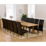 Normandy 220cm Solid Oak Extending Dining Table with Cannes Chairs