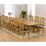 Normandy 220cm Solid Oak Extending Dining Table with Cheshire Chairs