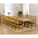 Normandy 220cm Solid Oak Extending Dining Table with Vermont Chairs
