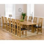 Normandy 220cm Solid Oak Extending Dining Table with Louis Chairs