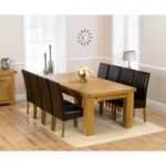 Loire 230cm Solid Oak Extending Dining Table with Normandy Chairs