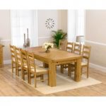 Loire 230cm Solid Oak Extending Dining Table with Vermont Chairs