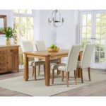 Yateley 140cm Oak Dining Table with Albany Chairs