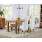 Yateley 140cm Oak Dining Table with Venezia Chairs