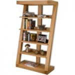 Infinity 165cm Solid Oak Bookcase